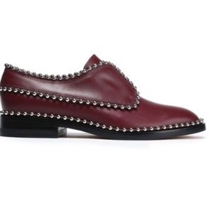 Alexander Wang Wendie Studded Leather Brogues EUC